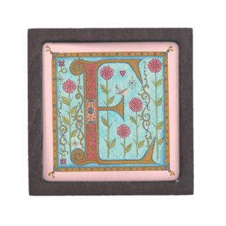 Illuminata *E* Monogrammed Miniature Gift Box
