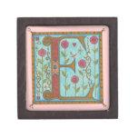 Illuminata *E* Monogrammed Miniature Gift Box Premium Trinket Boxes