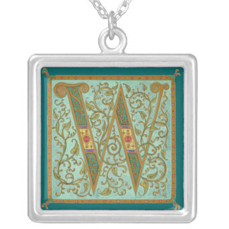 Illuminata *W* Monogrammed Silver-Plated Necklace
