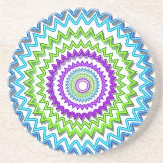 Illuminate BlueStar Chakra - Purple at Heart Coaster