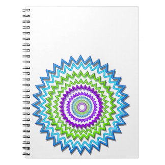 Illuminate BlueStar Chakra - Purple at Heart Spiral Notebooks
