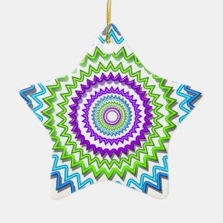 Illuminate BlueStar Chakra - Purple at Heart Double-Sided Star Ceramic Christmas Ornament
