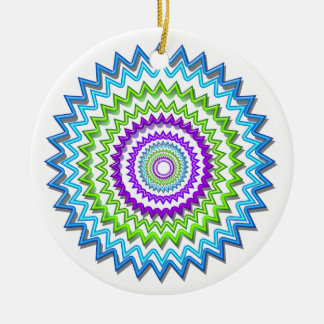 Illuminate BlueStar Chakra - Purple at Heart Double-Sided Ceramic Round Christmas Ornament