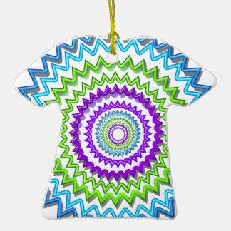 Illuminate BlueStar Chakra - Purple at Heart Double-Sided T-Shirt Ceramic Christmas Ornament