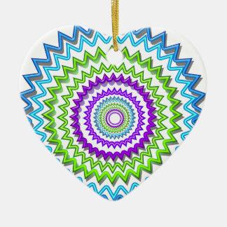 Illuminate BlueStar Chakra - Purple at Heart Double-Sided Heart Ceramic Christmas Ornament