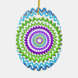 Illuminate BlueStar Chakra - Purple at Heart Double-Sided Oval Ceramic Christmas Ornament