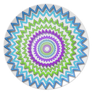 Illuminate BlueStar Chakra - Purple at Heart Party Plate