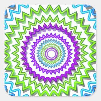 Illuminate BlueStar Chakra - Purple at Heart Square Sticker