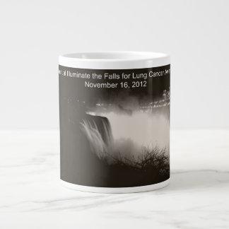 Illuminate the Falls for Lung Cancer Awareness 20 Oz Large Ceramic Coffee Mug