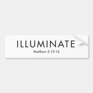Illuminate White Bumper Sticker
