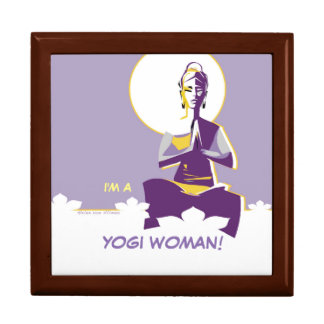 Illuminate woman or Yogini, with full 'moon mind' Keepsake Box