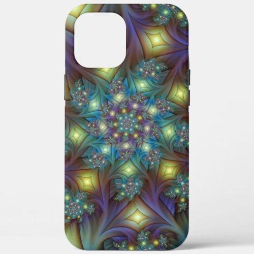 Illuminated Abstract Shiny Blue Purple Fractal Art Phone Case