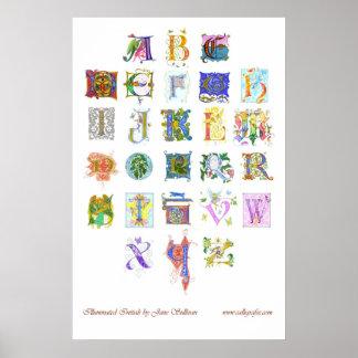 illuminated alphabet poster