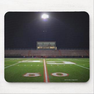 Illuminated American football field at night Mouse Pad