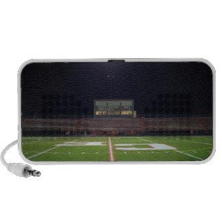 Illuminated American football field at night Speaker System