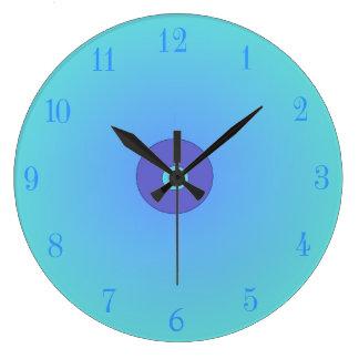Illuminated Aqua/mauve > Plain Kitchen Clocks