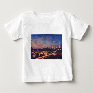 Illuminated Berlin Skyline at Dusk Baby T-Shirt