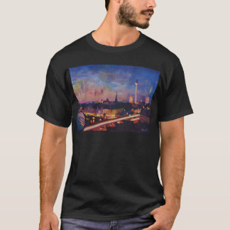 Illuminated Berlin Skyline at Dusk T-Shirt