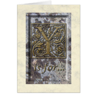 Illuminated Capital Y Greeting Card