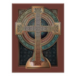 "Illuminated Celtic Cross Poster (18x24"")"