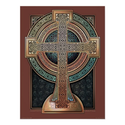 Illuminated Celtic Cross Poster (18x24