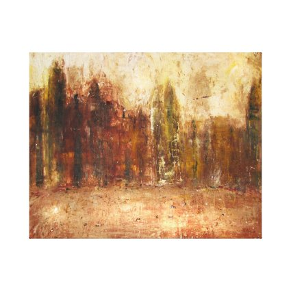 Illuminated City Canvas Print