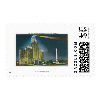Illuminated City Hall View Stamps