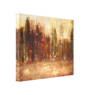 Illuminated City Stretched Canvas Prints