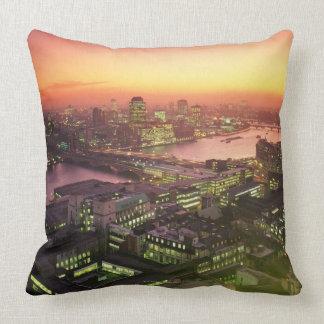 Illuminated Cityscape Pillows