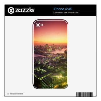 Illuminated Cityscape Skin For iPhone 4S
