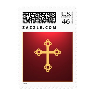 Illuminated Cross Postage Stamp - Red
