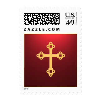 Illuminated Cross Postage Stamp - Red