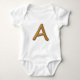 Illuminated Engraved 3D Alphabets A B C D E Baby Bodysuit