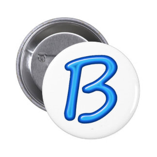 Illuminated Engraved 3D Alphabets A B C D E Pinback Button