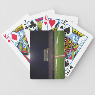 Illuminated Football Field Bicycle Playing Cards