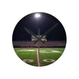 Illuminated Football Field Round Wallclock