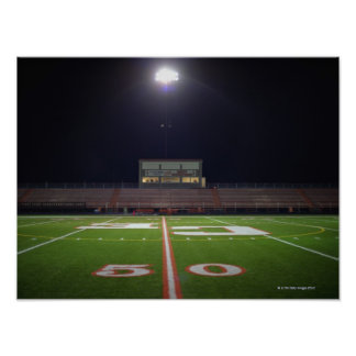 Illuminated Football Field Poster