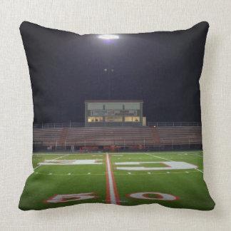 Illuminated Football Field Throw Pillow