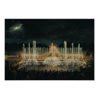 Illuminated Fountain Display Poster