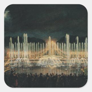 Illuminated Fountain Display Square Sticker
