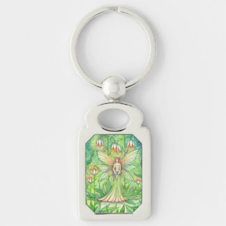 Illuminated Garden Flower Fairy Art Keychain