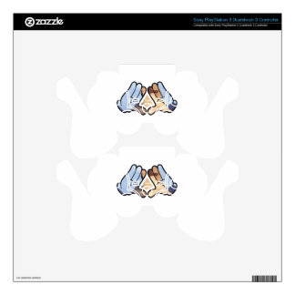 illuminated hands decal for PS3 controller