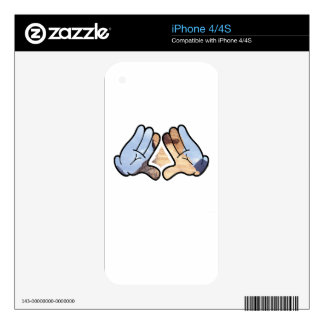 illuminated hands skin for the iPhone 4