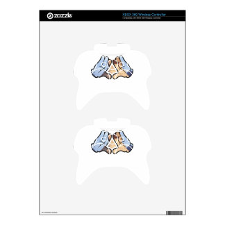 illuminated hands xbox 360 controller decal