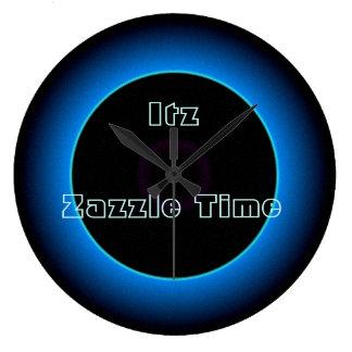 """Illuminated """"Itz Zazzle Time"""" Text >Wall Clocks"""