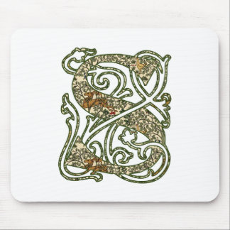 """Illuminated Letter """"S"""" Mouse Pad"""