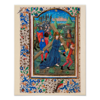 Illuminated Manuscript Book of Hours SR001-2 Posters