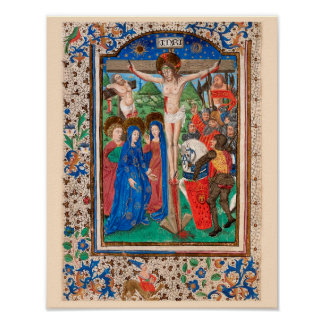 Illuminated Manuscript Book of hours SR001-3 Print