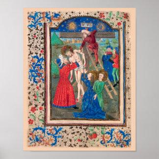 Illuminated Manuscript Book of Hours SR001-4 Art Posters