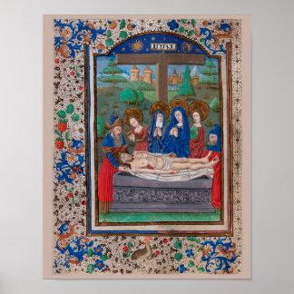 Illuminated Manuscript Book of Hours SR001-5 Print